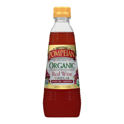 Pompeian Gourmet Organic Red Wine Vinegar Unfiltered And 16 Fl Oz Pack Of 6