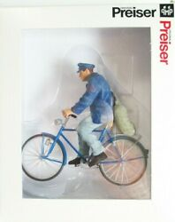 Preiser G Scale 45067 Farmer On Bicycle Please Read Note