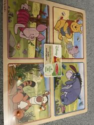 Melissa And Doug Winnie The Pooh My First Wooden Peg Puzzle Piglet Pooh Tigger