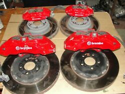 2006-20 Charger Challenger Brembo Brakes Front Rotors Calipers 6 Piston Br7 Red