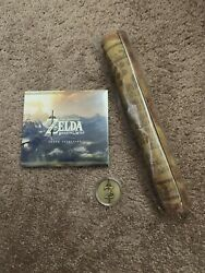 Breath of the Wild Soundtrack Sealed Collectible Coin and Tapestry Map NEW