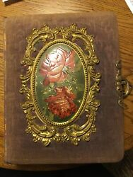 Antique Cabinet Card Photo Albums W/pictures Cute Girls Handsome Men Nice Lot
