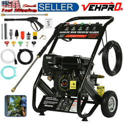 4-stroke Gas Petrol Engine Cold Water Pressure Washer With Spray Gu-n 6.5h-p Usa
