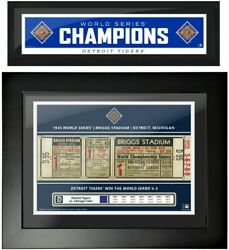 Detroit Tigers 1945 World Series Champions Two-piece Framed Photo Set