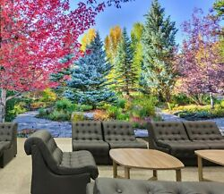 3d Park Plant Chair Zhu3338 Wallpaper Wall Mural Removable Self-adhesive Zoe