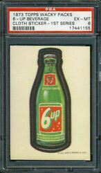 1973 Topps Wacky Packages Cloth Stickers 6-up Beverage Psa 6