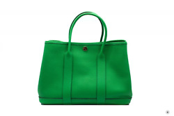 Used Hermes H064422 Garden Party Bambou/1k Vache Liegee Tpm 30 Tote Bag Phw Auth