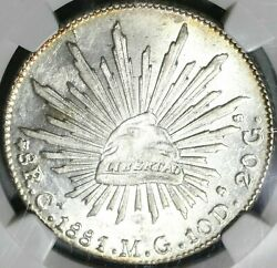 1881-ca Ngc Ms 63 Mexico 8 Reales Chihuahua Mint Silver Coin Pop 1/1 17073001d
