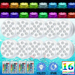 8x Swimming Pool Lights Rgb Led Underwater Pond Hot Tub Spa Party Lamp W/ Remote