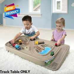 Race Track/train Track Table For Toy Hot Wheel Cars Trucks Trains Kids Boys Gift