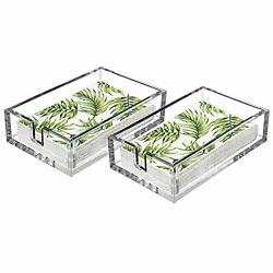 Laosge Napkin Holder 2 Pieces Clear Acrylic Guest Towel Holders Napkin Holder...
