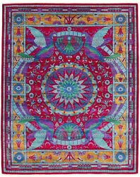 Vintage Hand-knotted Carpet 8'0 X 10'4 Traditional Oriental Wool Area Rug