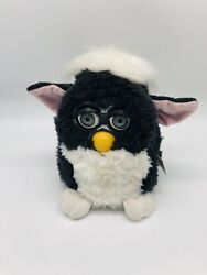 1998 Furby Model 70-800 Black White Belly Pink Ears Tiger Non Working See Desc