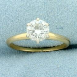 Almost 1ct Diamond Solitaire Engagement Ring In 14k