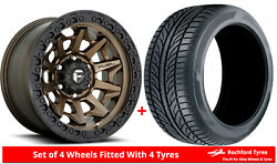 Alloy Wheels And Tyres 18 Fuel Covert D696 For Vw Transporter T5 03-15
