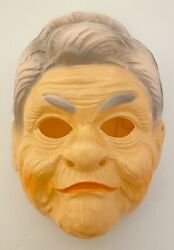 1980s Vintage Halloween Old Lady Grandma Witch Adult Costume Mask Ben Cooper