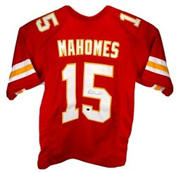 Patrick Mahomes Hand Signed Autographed Red Kansas City Chiefs Jersey With Coa