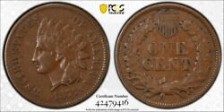 1877 1c Indian Head Cent Pcgs Vf 35 Very Fine To Extra Fine Cac Approved