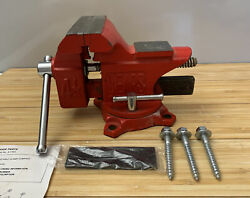 """Sears 4 1/2"""" 4.5"""" Swivel Bench Vise W/hard And Soft Jaws, Bolts."""