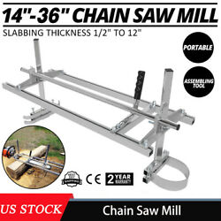 Portable Chain Saw Mill 14-36in Wood Timber Carpenter Lumber Cutting Machine
