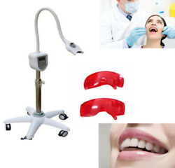 Dental Lab Mobile Oral Care Led Teeth Whitening Bleaching Light Equip Dual Color