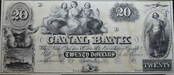 1840's 20 The Canal Bank Banking Company New Orleans, Louisiana Obsolete Note