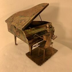 """Vintage Copper Music Box Grand Piano Player """"raindrops Keep Falling On My Head"""""""