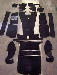 Mgb-gt 65-67 Black Loop Carpet Kit With 20 Ounce Padding