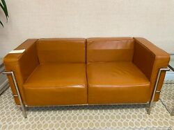 Office Furniture - Leather Sitting Area, Loveseat, Chairs, Tables.
