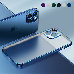 Matte Plating Case For iPhone 13 Pro Max 12 11 XS XR 8 7 Shockproof Clear Cover $7.46