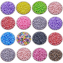 50 Striped Beads 6mm Rainbow Colored Beautiful For Making Necklace Bracelet