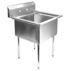 Open Box - Commercial Stainless Steel Kitchen Utility Sink - 30 Wide