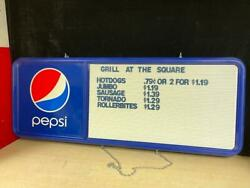 4ft Pepsi-cola Menu Board Sign W/3 Sets Of Letters And Numbers - Exc Cond