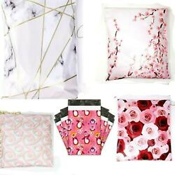 50 Designer Poly Mailers Plastic Envelopes Shipping Bags Custom Smilemail