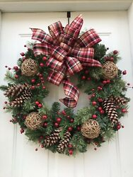 Christmas Wreaths, Large Christmas Wreath, Winter Wreaths For Front Door