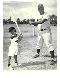 Jackie Robinson And Son C 1950's Type 1 Photo Psa / Dna Loa Stein Brooklyn Dodgers