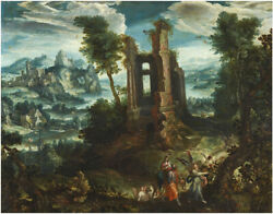 Oil Painting Handpainted On Canvas The Flight Into Egypt