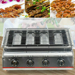 Smokeless Stainless Steel Gas Commercial Bbq Grill /lpg Gas Barbecue Oven