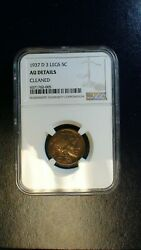 1937 D 3 Legged Buffalo Nickel Ngc Au Better Date 5c Coin Priced To Sell Now