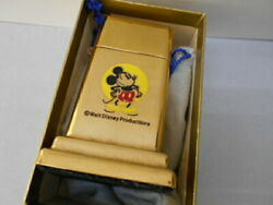 Barcroft 4th Hose Table Writer Disney Mickey Mouse Gold Finish Almost Secondhand