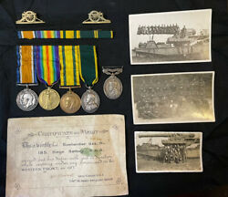 Ww1 Medals Set - Bombardier J.h. Flew Ra. With Photos