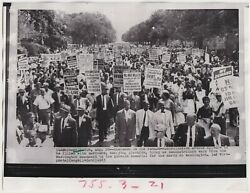 African-americans March On Washington Vintage Iconic 1963 Civil Rights Photo