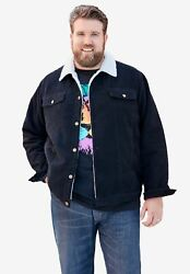 Kingsize Menand039s Big And Tall Sherpa-lined Trucker Jacket