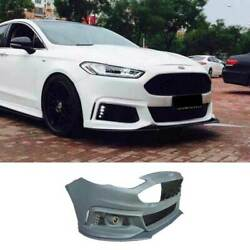 Mt Primer Black Front Bumper Bottom Protector For Ford Mondeo Fusion 2017-2020