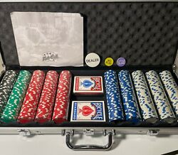 Fat Cat 11.5 Gram Texas Hold 'em Clay Poker Chip Set With Aluminum Case, 500