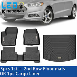 Floor Cargo / Mats Front Rear Liner For 2013-2021 Ford Escape Rubber All Weather
