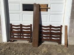 Vintage Antique Pair Of Wood Twin Bed Frames With Side Rails Vintage 1940and039s Used