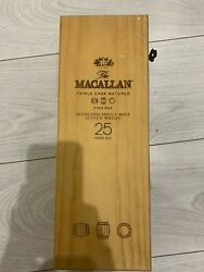 The Macallan 25 Year Scotch Whiskey Wooden Box Only