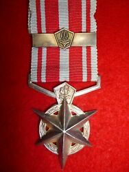 South Africa, Police Medal For Combating Terrorism Medal, With Bar, Named Naude