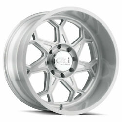 Cali Off-road 9111 Sevenfold 20x10 6x135 -25 Brushed Clear Wheels4 87.1 20 In